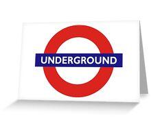 UNDERGROUND, TUBE, LONDON, ENGLAND, BRITISH, BRITAIN, UK Greeting Card