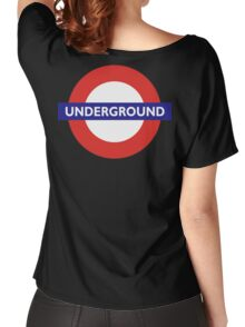 UNDERGROUND, TUBE, LONDON, GB, ENGLAND, BRITISH, BRITAIN, UK on BLACK Women's Relaxed Fit T-Shirt