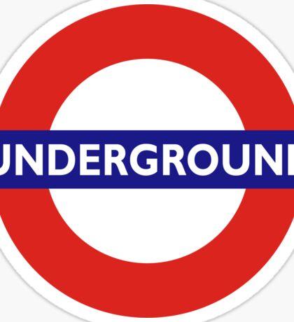 UNDERGROUND, TUBE, LONDON, GB, ENGLAND, BRITISH, BRITAIN, UK on BLACK Sticker