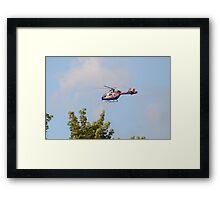 Media Helicopter Framed Print