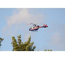 Media Helicopter Photographic Print