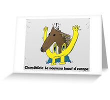 BD scandale charcuterie boeuf europe Greeting Card