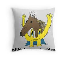 BD scandale charcuterie boeuf europe Throw Pillow