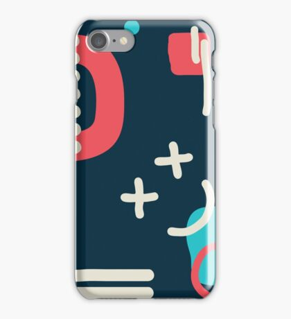 Modern hand draw colorful abstract seamless pattern  iPhone Case/Skin