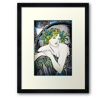"Appropriation of Alphonse Mucha's ""Woman with Poppies"" 1898 Framed Print"
