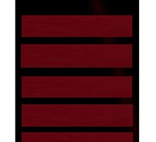 Red and black stripes by aussiecandice