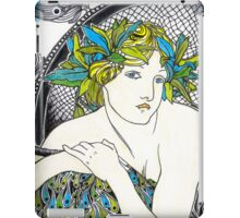 "Appropriation of Alphonse Mucha's ""Woman with Poppies"" 1898 iPad Case/Skin"
