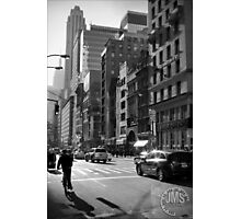 Fifth Avenue in Sun Looking South Photographic Print