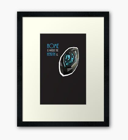 home is where the hearth is. Framed Print