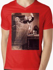 Ghost Attack Vintage photograph Mens V-Neck T-Shirt