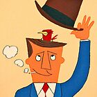 Ode the Mad Men. Bird under the Hat. by thehealypress