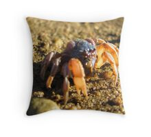 Soldier Crab Throw Pillow