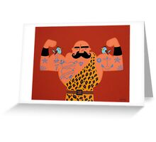 Muscle man. Greeting Card