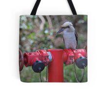 Kookaburra on Red Tote Bag