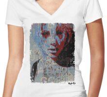 Love Bytes Ladies #25 Women's Fitted V-Neck T-Shirt
