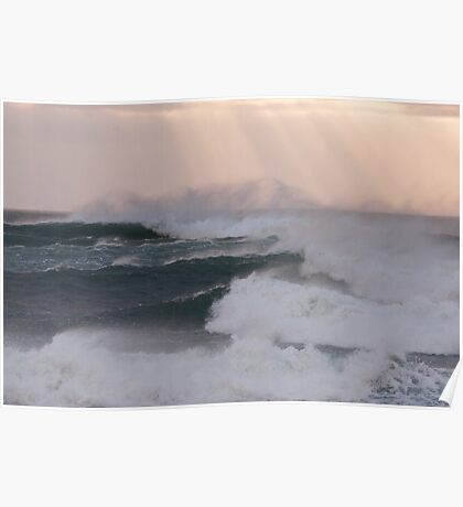 Atlantic Swell Waves Poster