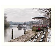 The Bandstand -Chester. Art Print