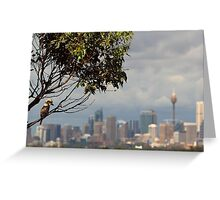 Kookaburra Skyline Greeting Card