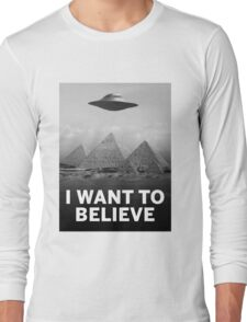 Want2Believe (Giza) Long Sleeve T-Shirt