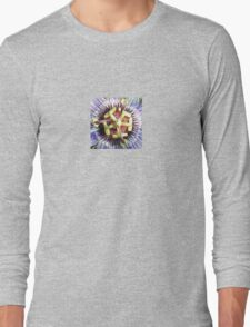 Close Up of The Centre Of a Passiflora Flower Long Sleeve T-Shirt