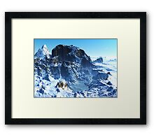 Winter in Mountain Valley Framed Print