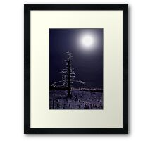 desolate moon Framed Print