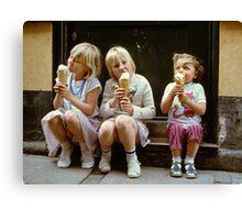 Ice Cream time, 1980s Canvas Print