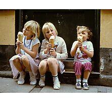 Ice Cream time, 1980s Photographic Print