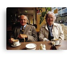 Time for a cuppa, UK, 1980s Canvas Print