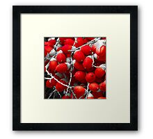 Manila Palm Red Framed Print