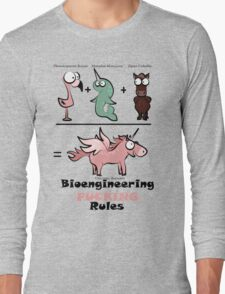 Bioengineering and Unicorns = Win [light] Long Sleeve T-Shirt