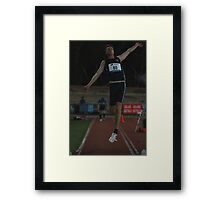 Adelaide Track Classic 2013 - Long Jump 4 Framed Print