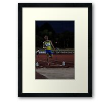 Adelaide Track Classic 2013 - Long Jump 12 Framed Print