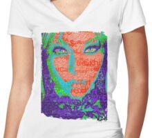Love Bytes Ladies #19 Women's Fitted V-Neck T-Shirt