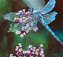 Blue Dragonfly by taiche