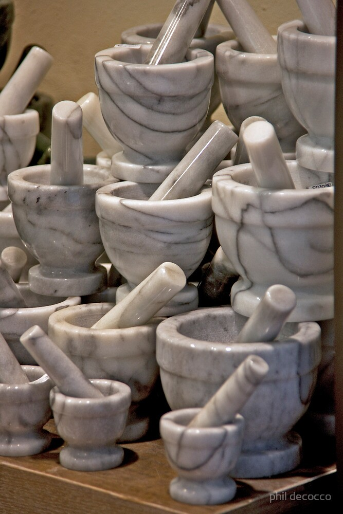 Alabaster Mortar and Pestles by phil decocco