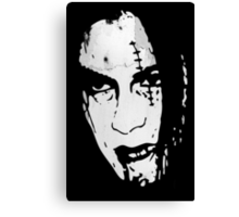 Bloody Scar Face - Cool Horror Grungy T-Shirt Design Canvas Print