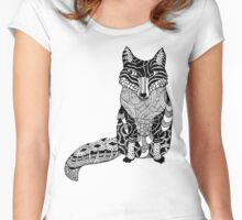 Fox Drawing Women's Fitted Scoop T-Shirt