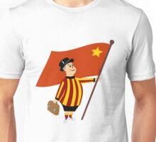 Bradford city gent with flag Unisex T-Shirt