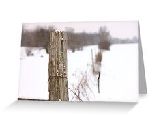 Fence Post Textured Greeting Card