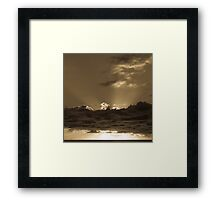 Sunset Soufriere (Sepia) Framed Print