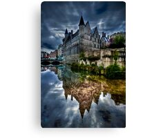 Reflected Belgian Castle Canvas Print