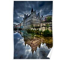 Reflected Belgian Castle Poster