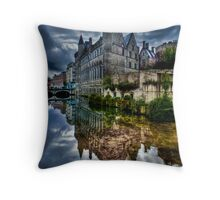 Reflected Belgian Castle Throw Pillow