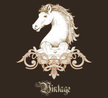 Vintage Heraldry Horse Crest by Sarah  Eldred