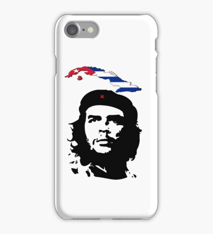 Che with Cuban flag iPhone Case/Skin