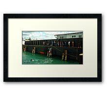 Supply Barge Framed Print