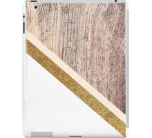 Rustic wood and gold glitter iPad Case/Skin