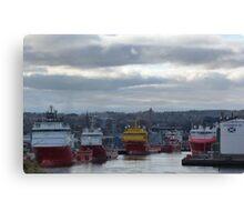 Aberdeen Harbour Canvas Print