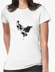 Continent Chicken Womens Fitted T-Shirt